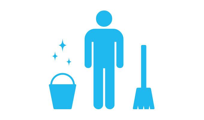 長期サポート 掃除